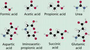 Esquema de la composición química de los componentes de las proteínas, los aminoácidos
