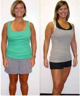 Mujer antes y después de cambiar a una dieta din carbohidratos con mucho ejercicio