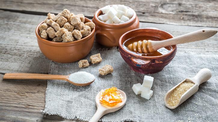 Algunos edulcorantes como azúcar, miel o sirope de maíz